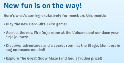Club Penguin Card-Jitsu Fire & Snow Maze Events Coming Soon!