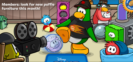New Club Penguin login screen! Penguin