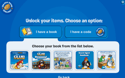 New Club Penguin Book Codes 2010