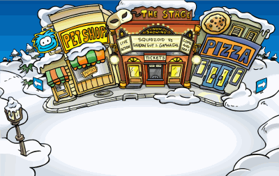 Image result for club penguin plaza